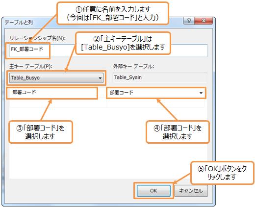 外部キーの設定方法3